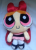 blossom power puff plush backpack
